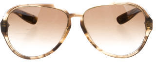 Bottega Veneta Bottega Veneta Marbled Aviator Sunglasses