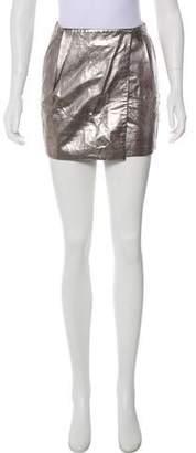 Diane von Furstenberg Leather Mini Skirt