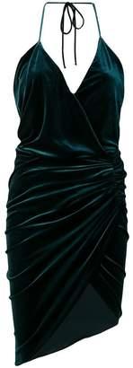 Alexandre Vauthier ruched velvet halter dress