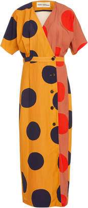 Mara Hoffman Amrita Polka Dot Wrap Dress