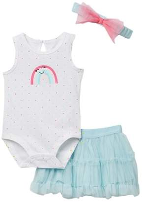 Petit Lem PL Baby by Bodysuit, Tutu, & Headband 3-Piece Set (Baby Girls)