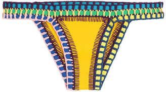Kiini Ro Crochet Trimmed Bikini Bottoms