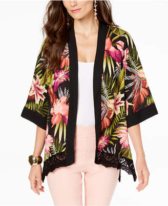 Thalia Sodi Lace-Trim Kimono