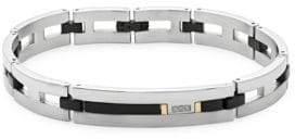 Saks Fifth Avenue Diamond and 18K Titanium Link Bracelet