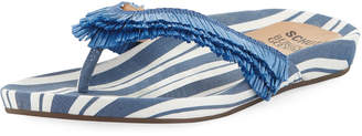 Schutz Capri Striped Thong Sandal