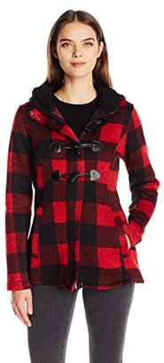 Madden Girl Women's Buffalo Plaid Toggle Coat $34.99 thestylecure.com