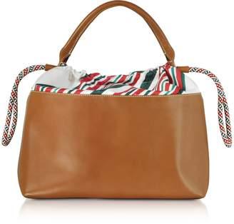 Carven Varenne Leather Large Tote Bag