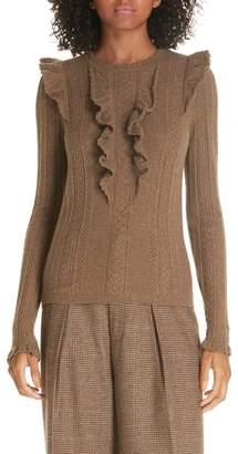 Polo Ralph Lauren Ruffle Pointelle Sweater