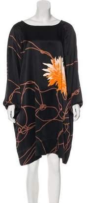 Dries Van Noten Silk Printed Dress