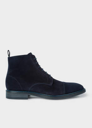 Paul Smith Mens Navy Suede Jarman Boots