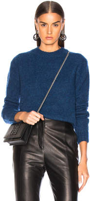 Helmut Lang Brushed Crew Neck Sweater in Lagoon | FWRD