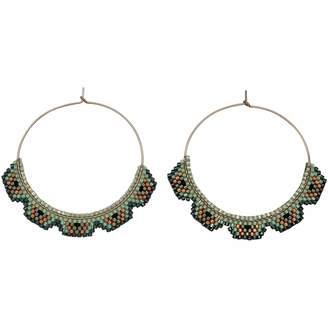 LeJu London - Hoop Earrings in Grey & Silver Tones
