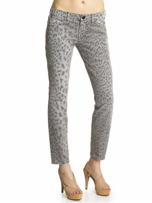Current/Elliott The Stiletto Leopard Jeans