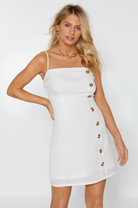 Nasty Gal Get Button With It Mini Dress