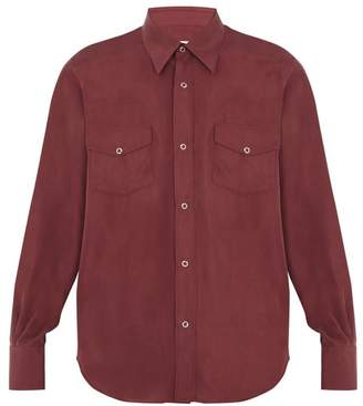 Cobra S.C. Cobra S.c. - Ranger Point Collar Silk Shirt - Mens - Red