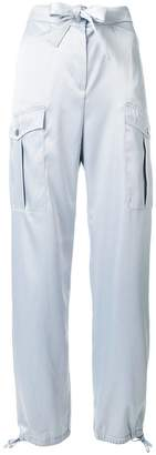 Karl Lagerfeld bow detail cargo trousers