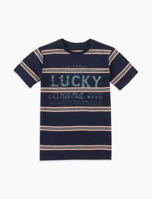 Lucky Brand SHORT SLEEVE STRIPE SLUB TEE