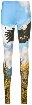 R 13 eagle print leggings
