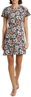 NEW Tokito Flutter Sleeve Work Dress - Aloha Floral Assorted