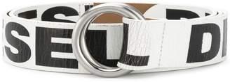 Diesel ring buckle logo belt