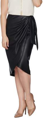 G.I.L.I. Got It Love It G.I.L.I. Side Tie Faux Leather Skirt