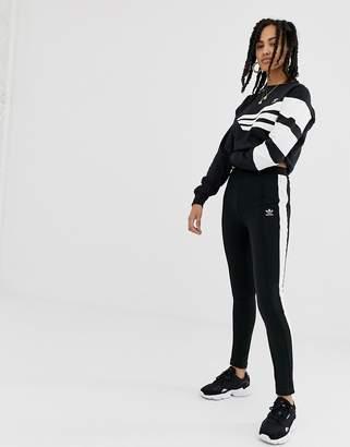 adidas side stripe super slim joggers in black d1dad257b0