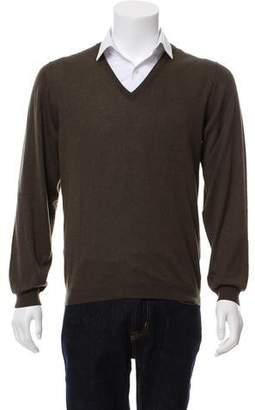 Cesare Attolini Woven V-Neck Sweater