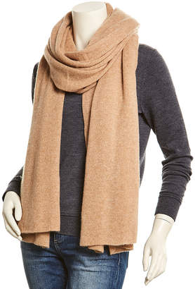 White + Warren Camel Heather Cashmere Wrap