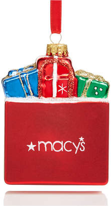 Holiday Lane Macy's Shopping Bag Ornament