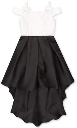 Speechless Big Girls Colorblocked High-Low Hem Dress