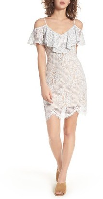 Women's Wayf Cold Shoulder Lace Dress $79 thestylecure.com