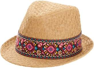Faded Glory Women's Straw Fedora Hat