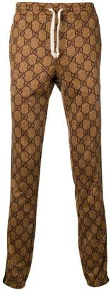 Gucci GG pattern track trousers