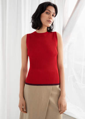 And other stories Rib Knit Tank Top