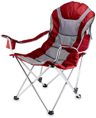 Picnic Time Dark Red Reclining Camp Chair