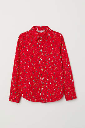 H&M Cotton Shirt - Red