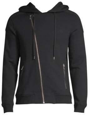 The Kooples Biker-Cut Cotton Sweatshirt