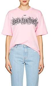 "Off-White Women's ""Off Natural"" Cotton Oversized T-Shirt - Pink"