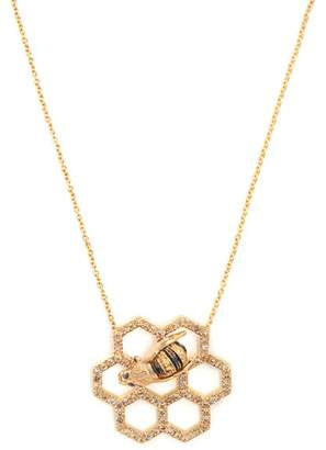 Delfina Delettrez Beehive Diamond & Sapphire Yellow Gold Necklace - Womens - Gold