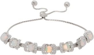 Gemstone Diamond Cut Adjustable Bracelet, Sterling Silver