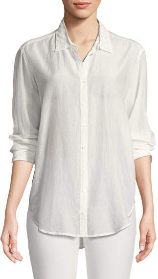 Xirena Beau Cotton/Silk Lounge Shirt
