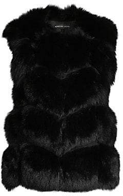 Adrienne Landau Women's Let Out Fox Fur Vest