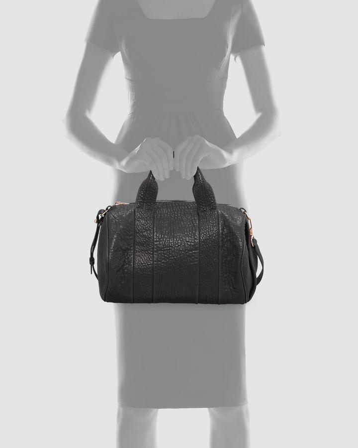 Alexander Wang Rocco Stud-Bottom Satchel Bag, Rose Golden