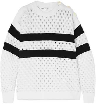 Sonia Rykiel Striped Open-knit Sweater - White