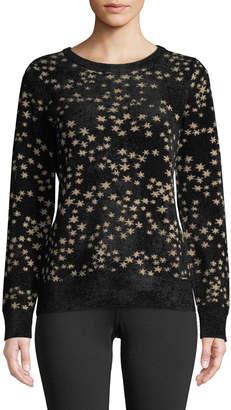 MICHAEL Michael Kors Metallic Star Detailed Jacquard Sweater