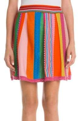 Moschino Women's Multi-Color Wool Knit Skirt - Size 42 (8)
