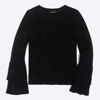 J.Crew Factory Ruffle-sleeve pullover sweater