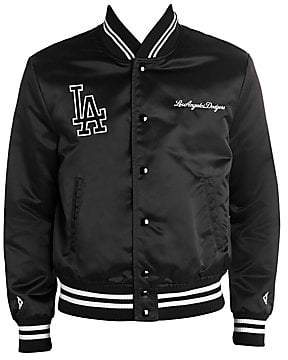 Marcelo Burlon County of Milan Men's LA Dodgers Satin Bomber Jacket