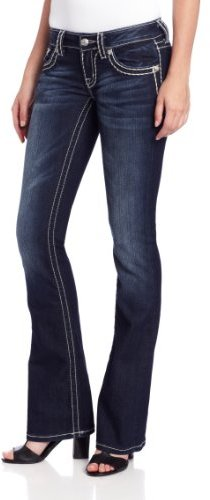 Miss Me Juniors Thick Stitch Bootcut Jean