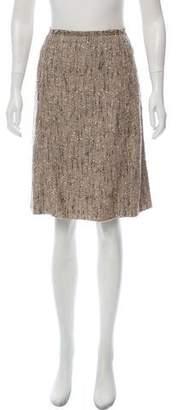 Prada Tweed Knee-Length Skirt